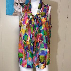 Per se silk colorful top